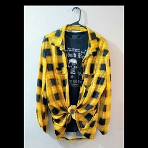 checkered grungy flannel, final price drop